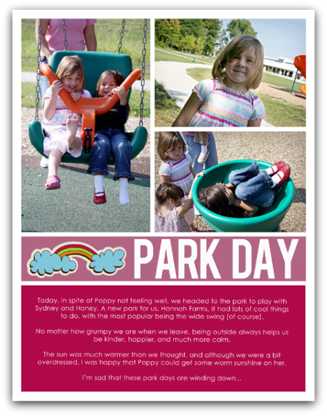 09.15.09 - park day write click scrapbook