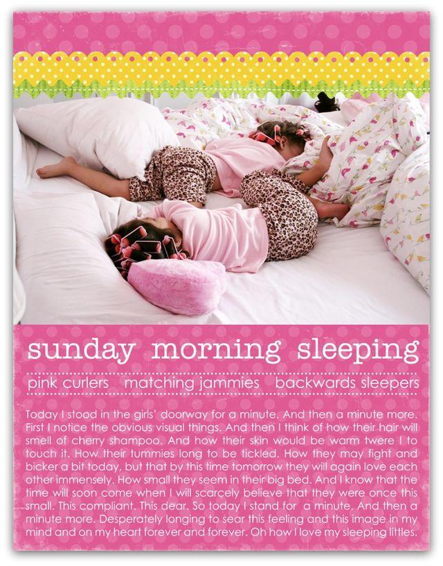 sunday morning sleeping